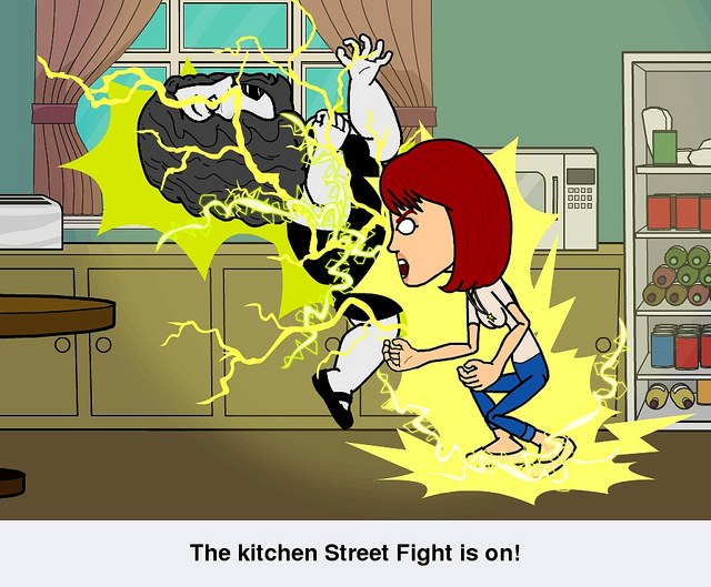 If you're not playing Bitstrips....this photo should change your mind.