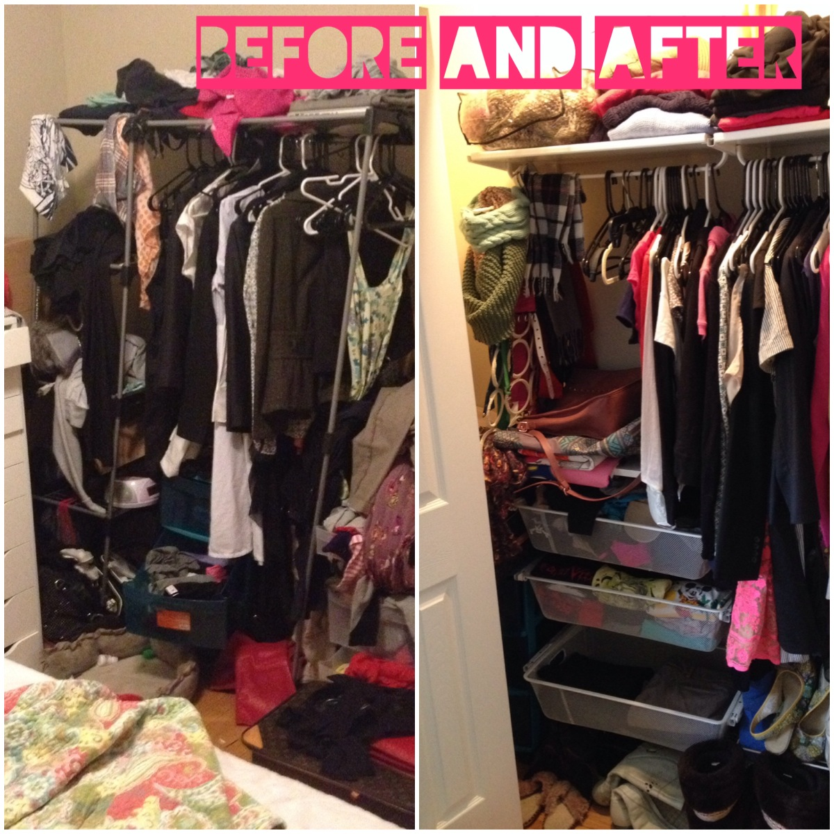 This Was The Clothing Storage Situation   Before The Lovely Leaning Tower  Of Clothes In The