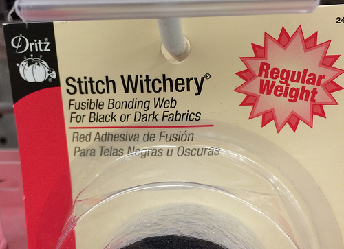 STITCH WITCHERY. From now on what I will call my sewing crafts.