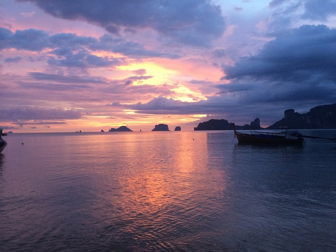 Sunset in Krabi. Gorgeous.