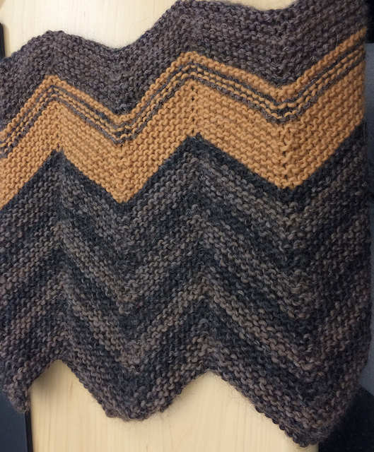 Sara's Pop Chevron Cowl - DK weight in Alpaca and Wool. SOO SOFT.