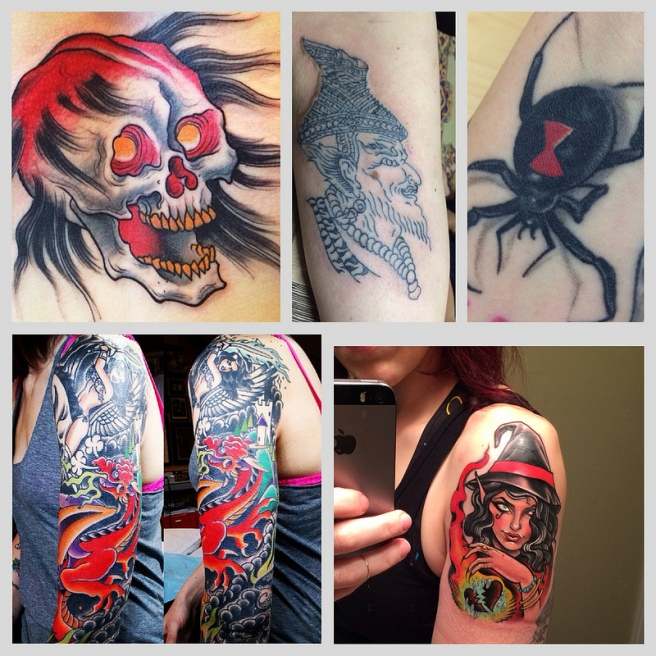 Tattoos of 2013. Josh Howard, Arajan Bpom, Artbrutis, Alisha Rice, Dusty Neal.