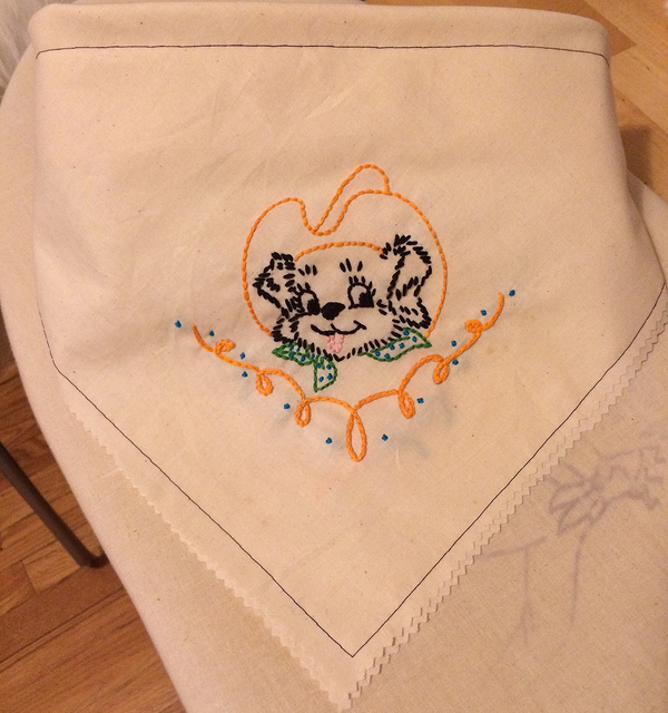 Handkerchief for the neighbor doggie Lola.