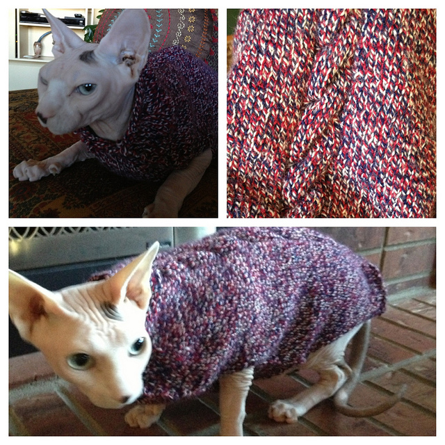 My first sweater for Vladimir then it became Leopold's.