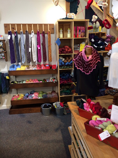 i love the layout of the yarns/store.