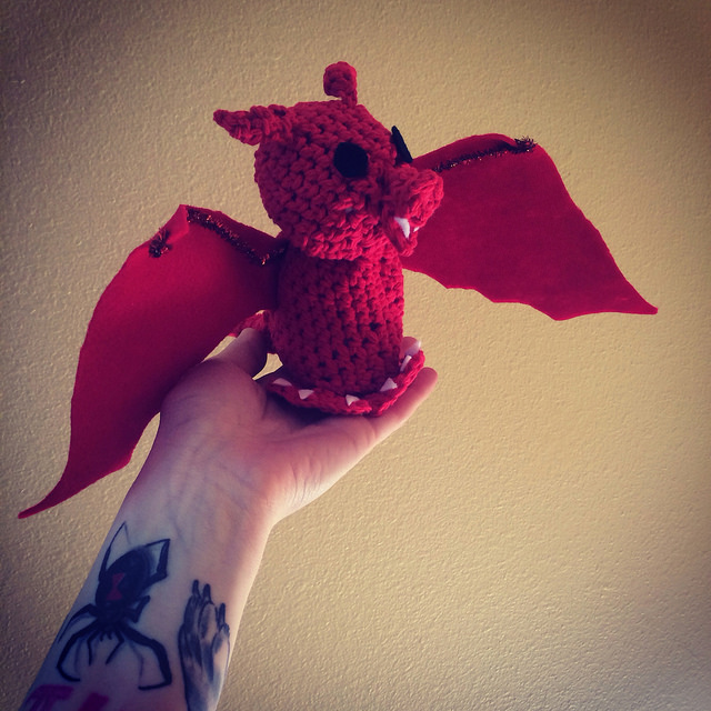 i made this amigurume dragon for out GoT party hostess Alisha Rice.
