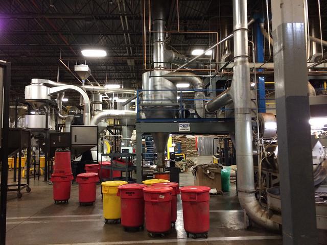 massive roasting/packaging equipment