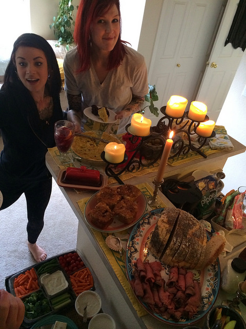 a portion of the mega spread we had.