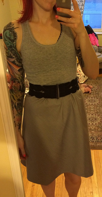 my new gray denim skirt.